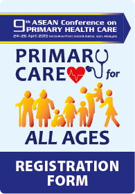 9th ASEAN Conference on Primary Health Care Registration  Form